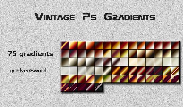 Vintage Photoshop Gradients