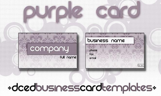 biz card template