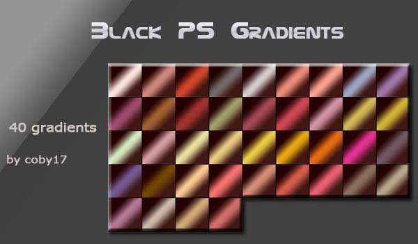 Black Photoshop Gradients