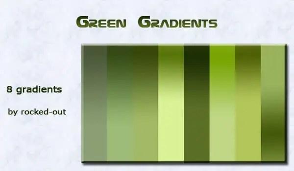 green Photoshop gradients