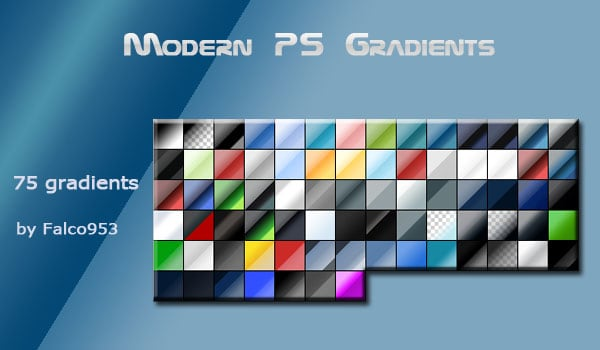 Modern Photoshop Gradients