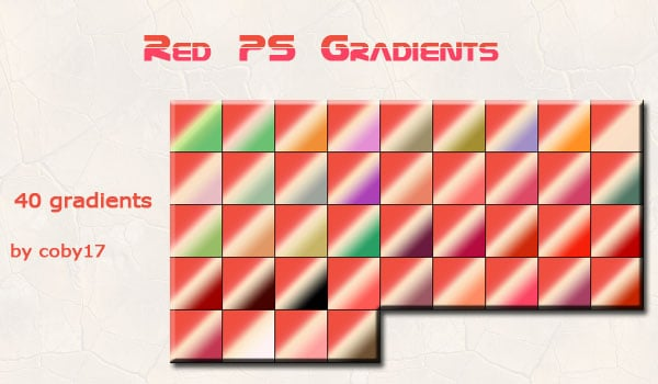 Red Photoshop Gradients