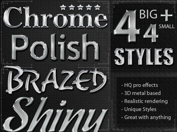 metal chrome layer styles