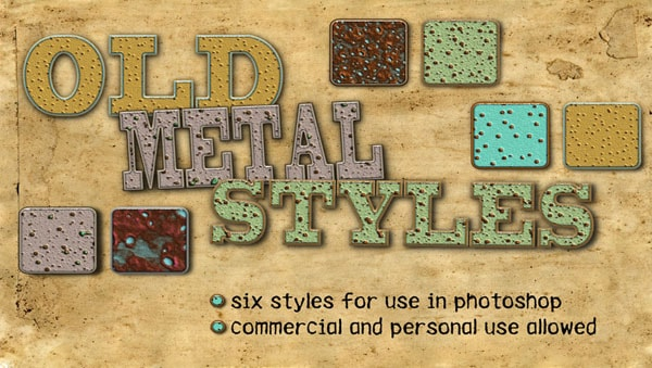 Old Metal Photoshop Styles