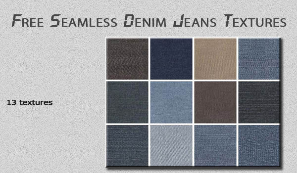 Seamless Denim Jeans Textures