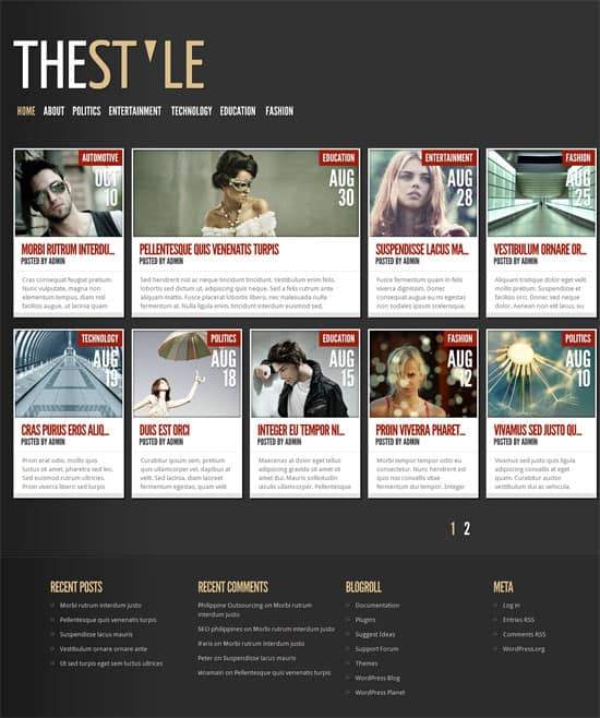 WordPress Grid Themes