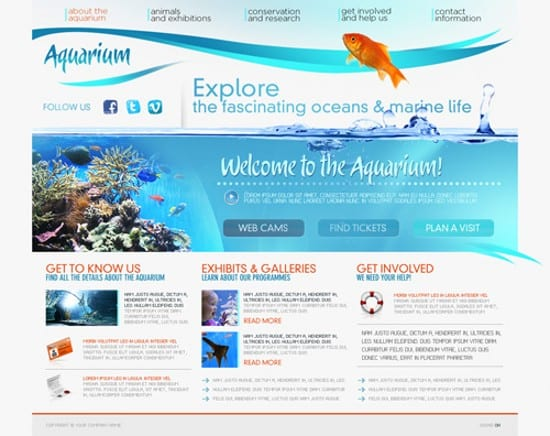 Flash Aquarium Free Template