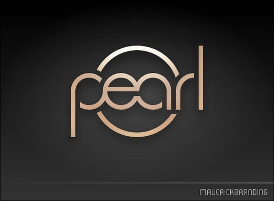 typography pearl logo design inspiration