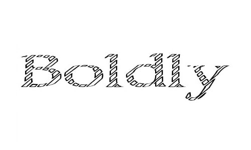 Boldly Go Out font