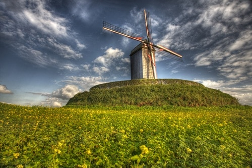 windmill in autumn