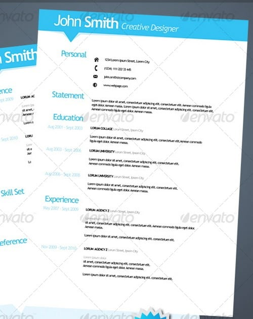 modern and professional resume template examples 16