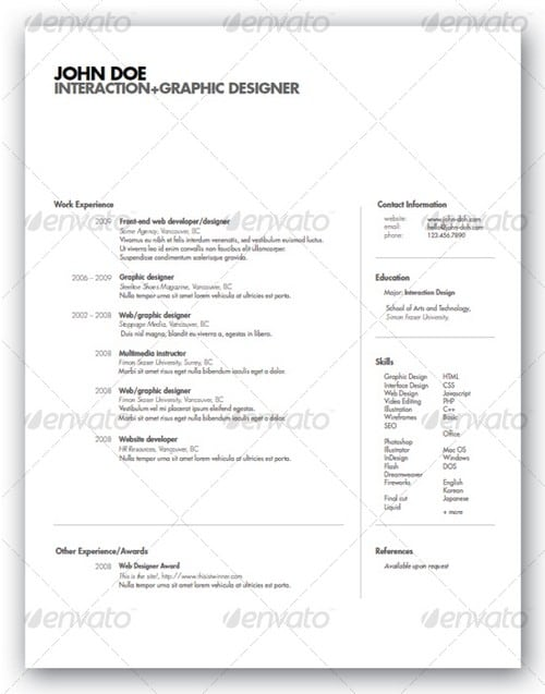 modern and professional resume template examples 18