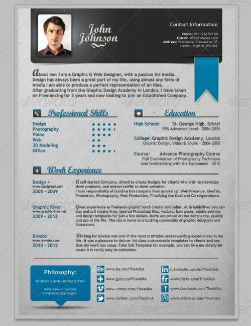 modern resume templates - modern resume templates