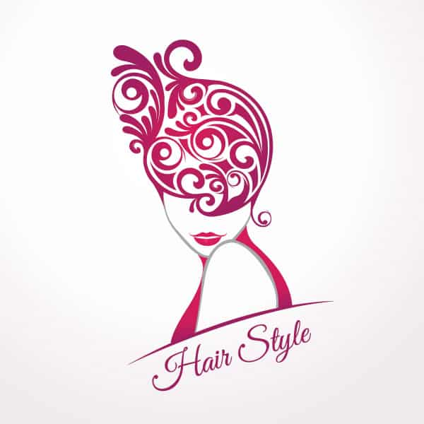 Hair Style Vector Graphic
