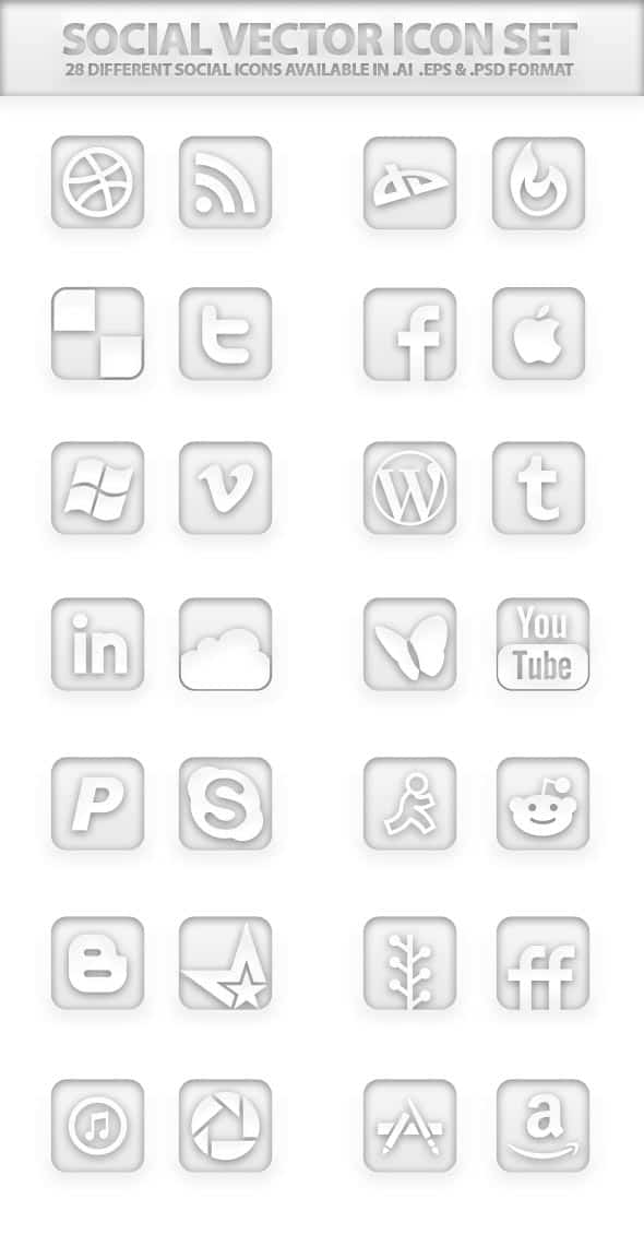 Social Vector Icon Set