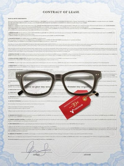 Glasses-contract-creative-advertisements