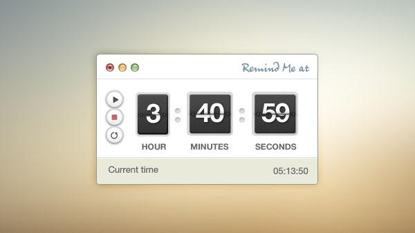 timer-interface-psd