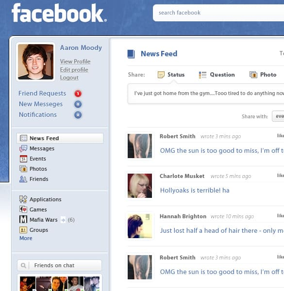 Fun Facebook Page Redesign PSD