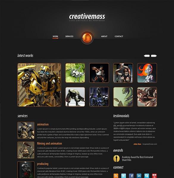Stunning One-Paged Website Portfolio Template