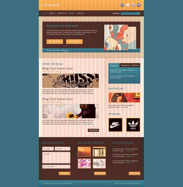 Clean Modern Website Template