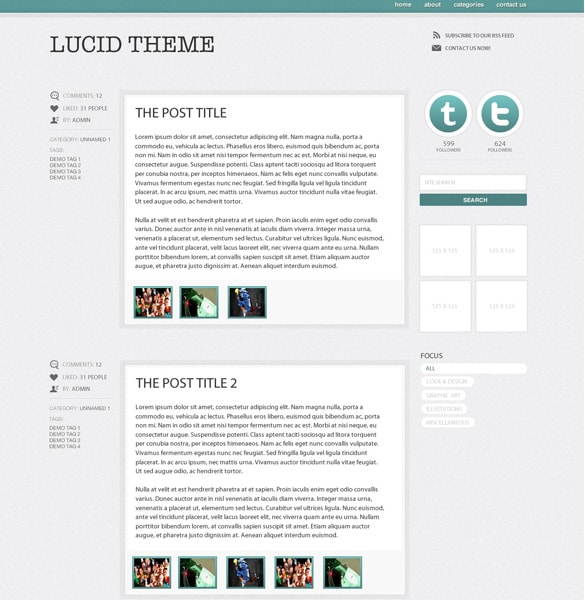 Simplistic WordPress Blog Theme