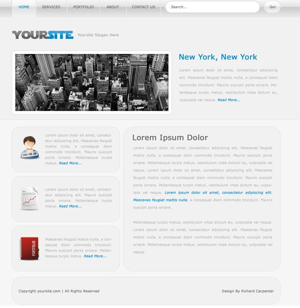 Simple Clean Web Design Layout