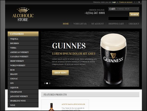 Alcohol-Store-opencart-templates