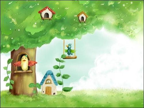 Birds-in-Spring-Tree-spring-wallpaper