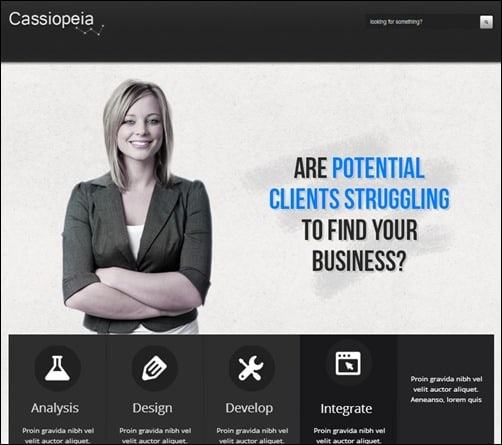 Cassiopeia responsive WordPress themes