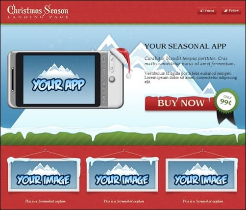 Christma-Season-landing-page-templates
