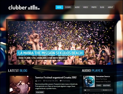 Clubber-wordpress-music-theme