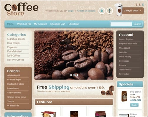 Coffee-Store-opencart-templates