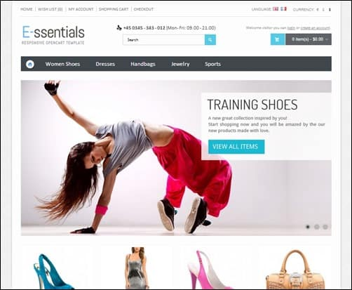 E-ssentials-opencart-themes-free