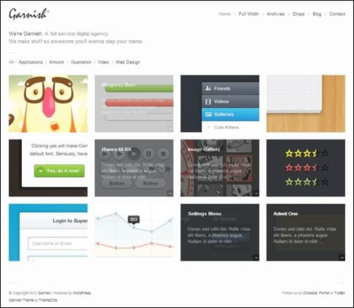 Garnish simple wordpress themes