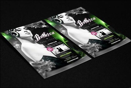 Gothica-Techno flyer templates