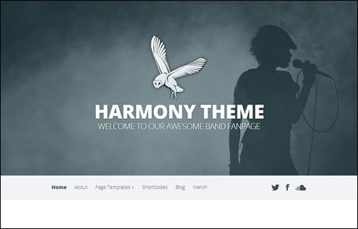Harmony wordpress music theme