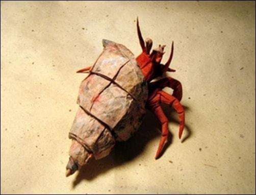 Hermit-Crab-1.1-paper-sculpture-techniques