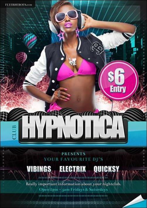 Hypnotica-Club flyer templates