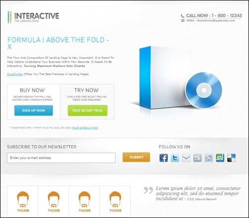 Interactive-landing-page-templates