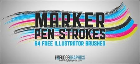 Marker-Pen-Strokes-AI-Brushes-free-illustrator-brushes