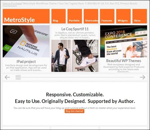 MetroStyle responsive WordPress theme