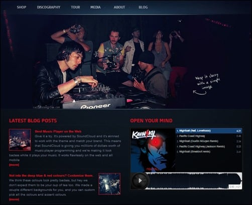 Night-Music wordpress music theme