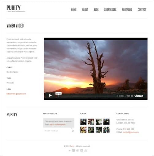 Purity wordpress business themes