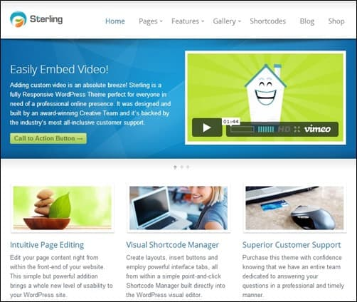 Sterling responsive WordPress theme