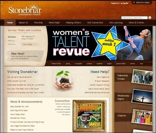 Stonebriar-church-website-design
