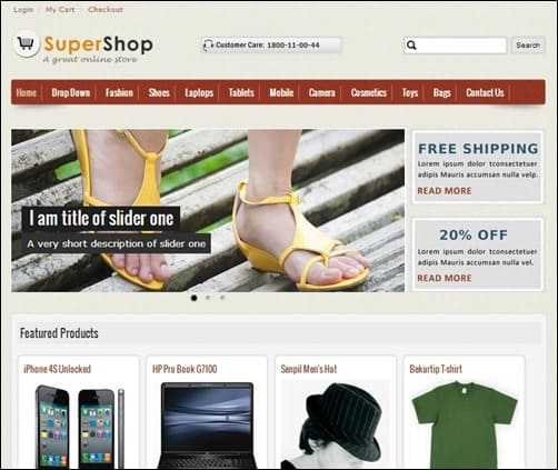 SuperShop-drupal-7-themes