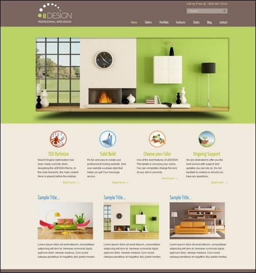 U-Design wordpress business themes