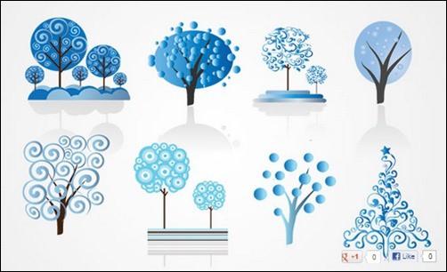 Winter-Tree-Vector-Set