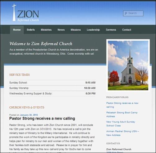 Zion-Reformed-Church-church-websites