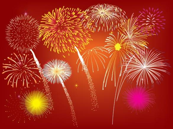 Vector Celebration Fireworks Display